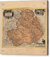 Map Of Rheims 1636 Acrylic Print