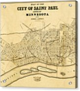 Map Of Saint Paul 1852 Acrylic Print