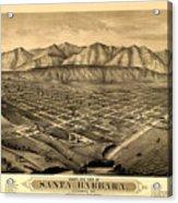 Map Of Santa Barbara 1877 Acrylic Print