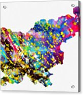 Map Of Slovenia-colorful Acrylic Print