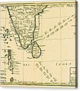 Map Of Southern India, Circa.1760. From Acrylic Print