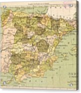 Map Of Spain Acrylic Print