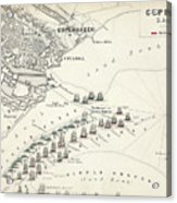 Map Of The Battle Of Copenhagen Acrylic Print