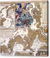 Map Of The Christmas Flood Of 1717 Acrylic Print