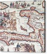 Map Of The Island Of Haiti Acrylic Print