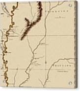 Map Of The Mississippi Riverr 1775 Acrylic Print