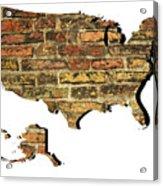 Map Of Usa And Wall. Acrylic Print