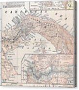 Map: Panama, 1907 Acrylic Print