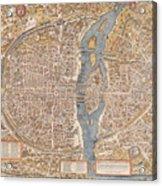 Map Paris Acrylic Print