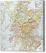 Map: Scotland Acrylic Print