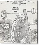 Map Showing The Site Of The Siege Of Acrylic Print