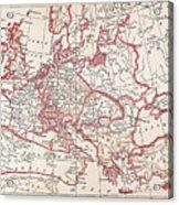 Map: Thirty Years War Acrylic Print