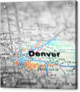 Map View For Travel To Locations And Destinations Acrylic Print