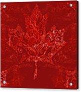 Maple Leaf Filigree Pattern Acrylic Print