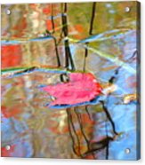 I Am Here In The Changing Waters Acrylic Print