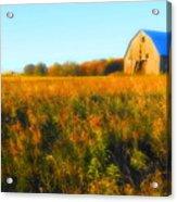 Maple Ridge Fall Barn Acrylic Print