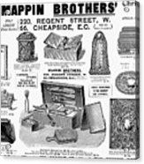 Mappin Brothers Ad, 1895 Acrylic Print