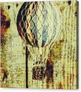 Mapping A Hot Air Balloon Acrylic Print