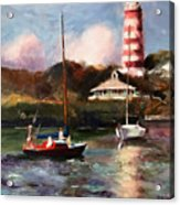 Mara Sails Hope Town Acrylic Print