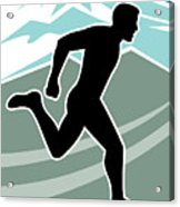 Marathon Runner Acrylic Print by Aloysius Patrimonio