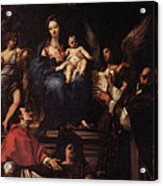 Maratti Carlo Madonna And Child Enthroned With Angels And Saints Acrylic Print