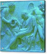 Marble Angel Relief Acrylic Print