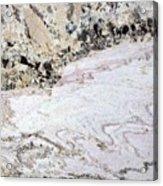 Marble Black Tan Pink Acrylic Print
