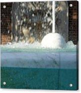 Marble Fountain Shower Acrylic Print