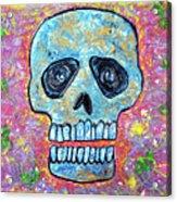 Marble Skull  Acrylic Print