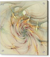 Marble Spiral Colors Acrylic Print