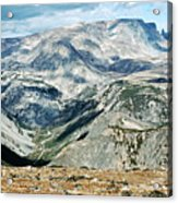 Marbled Mountains Acrylic Print