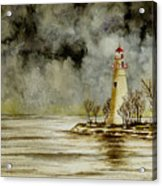Marblehead Lighthouse In The Winter Acrylic Print