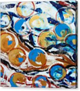 Marbles Of Life Acrylic Print