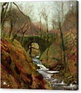 March Morning Acrylic Print by John Atkinson Grimshaw