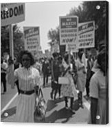 March On Washington. African Americans Acrylic Print