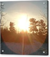 March Sunrise Circle Acrylic Print