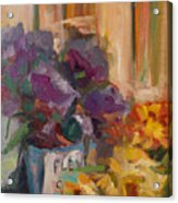 Marche' Aux Fleurs Acrylic Print