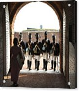Marching Off On Detail At Fort Mchenry Acrylic Print