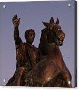 Marcus Aurelius Statue Rome Acrylic Print