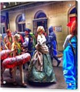 Mardi Gras Craziness Acrylic Print