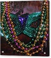 Mardi Gras Feminine Mystique Acrylic Print