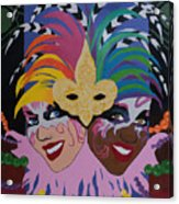 Mardi Gras In Colour Acrylic Print