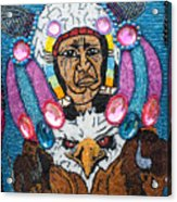 Mardi Gras Indian Apron Detail Acrylic Print