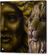 Mardi Gras Lion Acrylic Print