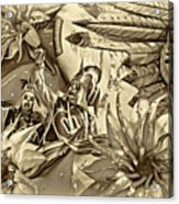 Mardi Gras - New Orleans 3 - Sepia Acrylic Print