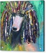 Mardi Gras Poodle Acrylic Print