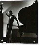 Margaret Horan Posing Beside A Piano Acrylic Print