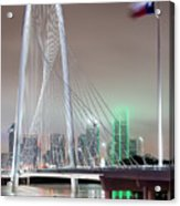 Margaret Hunt Hill Bridge Flag Acrylic Print