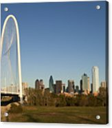 Margaret Hunt Hill Bridge In Dallas - Texas Acrylic Print