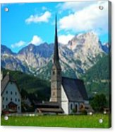 Maria Alm Am Steinernen Meer Acrylic Print